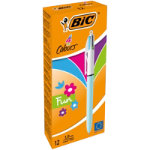 Bic 4 Colours Pen Assorted Pack of 12