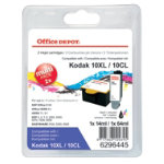 Office Depot Compatible for Kodak 10XLB 10XLC Black 3 Colours Ink Cartridge KD94994