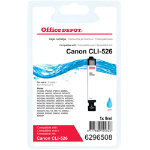 Office Depot Compatible Canon 526C Cyan Inkjet Cartridge CLI 526C
