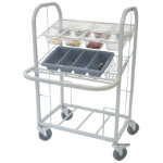 Craven Condiment Cutlery and Tray Dispensing Trolley