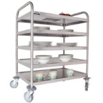 Craven General Purpose Trolley 5 Tier with 2 Braked Castors and 2 Swivel Castors