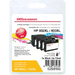 Office Depot Compatible HP 932XL 933XL Ink Cartridge c2p42ae Black Cyan Magenta Yellow 4 pieces