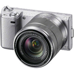 Sony NEX-5N SLR 3D Compact System Digital Camera and lens Kit - Silver
