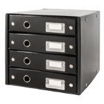 LEITZ Click and Store 4 Drawer Unit Black