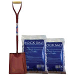Heavy Duty Snow Shovel 20kg Brown Rock Salt Bundle