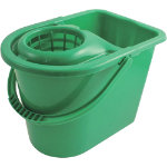 15L Traditional Mop Bucket And Wringer Green