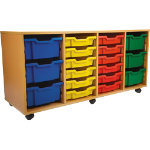 Steltube Storage Unit 24 Part Red 650 x 1040 x 495 mm Includes trays