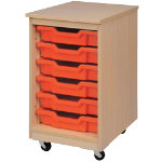 6 Tray Unit Red Beech 650 x 370 x 495 mm Includes trays