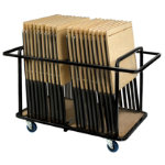 Exam Desk Trolley Black Frame