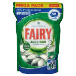 Fairy dishwasher tablets pack 58
