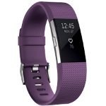 Fitbit Activity  Sleep Tracker Charge 2 Large Plum Silver