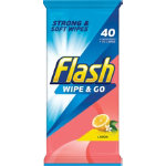 Flash Cleaning Wipes Lemon 40 Wipes