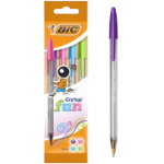 Cristal Large fashion ball pen in assorted colours Pack of 4
