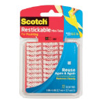 Scotch Clear Restickable Mounting Squares Pack of 72