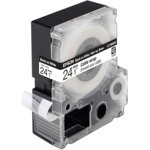 Epson LC 6WBC9 Label Tapes Black on White Cable Wrap 24mm x 9m