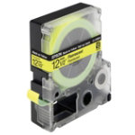 Epson LC 4YBF9 Label Tapes Black on Yellow Fluorescent 12mm x 9m