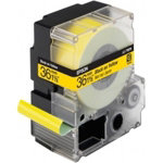 Epson LC 7YBP9 Label Tapes Black on Yellow Pastel 36mm x 9m