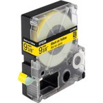 Epson LC 3YBP9 Label Tapes Black on Yellow Pastel 9mm x 9m