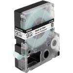 Epson LC 3TBN9 Label Tapes Black on White Transparent 9mm x 9m