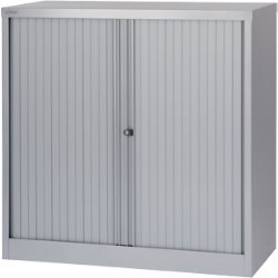 Bisley Side Tambour Cupboard Grey 1020H x 1000W x 470Dmm