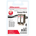 Office Depot Compatible canon PGI 5BK Ink Cartridge Black Duopack