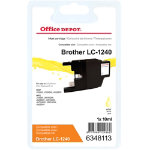 Office Depot Brother LC1240Y Yellow Inkjet Cartridge