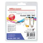 Office Depot Kodak 30XLB 30C Black Colour Inkjet Multipack 8039745
