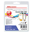 Office Depot 30B 30C Compatible Ink Cartridge 3 Colours 2 pieces
