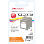Office Depot Compatible Brother LC1000 Ink Cartridge 3 Colours Pack 3