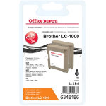 Office Depot Compatible Brother LC1000BK Ink Cartridge Black Pack 2