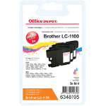 Office Depot Compatible Brother LC1100 Ink Cartridge 3 Colours Pack 3