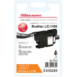 Office Depot Brother LC1100BKBP2 Black Inkjet Twin Pack