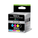Lexmark 100XL Original high capacity black colour ink cartridge multipack N A
