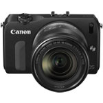 Canon EOS M  EF M 18 55 Compact System Camera Black