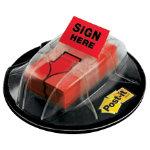 Post it Index Sign Here Value Pack in a Desk Grip Dispenser