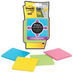 Post it Full Adhesive Notes 4 pads of Assorted Colours 76mm x 76mm
