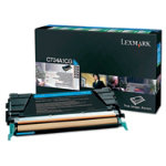 Lexmark X746 X748 Cyan Return Program Toner Cartridge