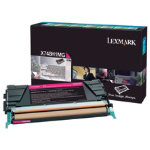 Lexmark X746 X748 Magenta Return Program Toner Cartridge