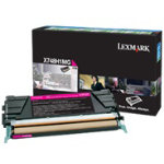 Lexmark X748H1MG Original Magenta Toner Cartridge X748H1MG