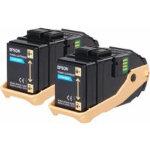 Epson S050608 Original Toner Cartridge C13S050608 Cyan Pack 2