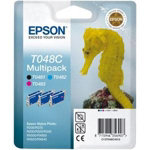 Epson T048B Original Cyan Magenta Yellow Ink Cartridges C13T048B4010