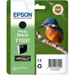 Epson T1591 Original Photo Black Photo Ink Cartridge C13T15914010