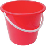 10L Plastic Bucket With Handle Red