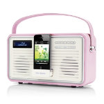 View Quest Retro DAB Digital and FM Radio with iPhone Dock Pink