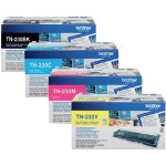 Brother TN230 Black Cyan Magenta Yellow Laser Toner Cartridge Pack