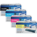 Brother TN 230BK C M Y Original Toner Cartridge Black 3 Colours Pack 4