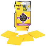 Post it Full Adhesive Notes 4 pads of Electric Yellow 76mm x 76mm