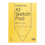 Goldline Glued A3 Sketch Book Pack 4