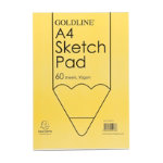 Goldline Glued A4 Sketch Book Pack 4
