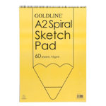 Goldline Spiral A2 Sketch Book Pack 4